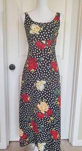 Rose and Polka-dot Maxi Dress